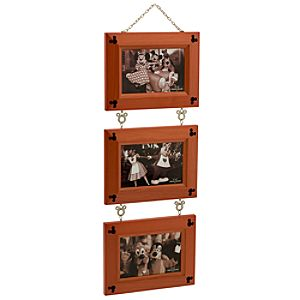 Three-Link Cherry Wood Mickey Mouse Photo Frame