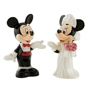 Minnie and Mickey Mouse Salt and Pepper Shakers - 2-Pc. Wedding Set