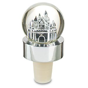 Cinderella Castle Snowglobe Bottle Stopper