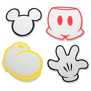 Best of Mickey Mouse Cutting Board Set -- 4-Pc.