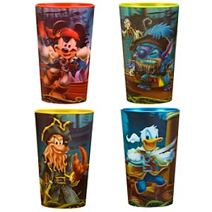 3-D Pirates of the Caribbean Mickey Mouse and Friends Cup Set -- 4-Pc.