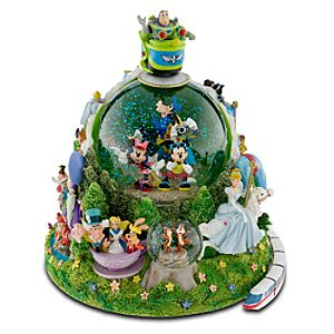 Four Parks One World Walt Disney World Resort Snowglobe