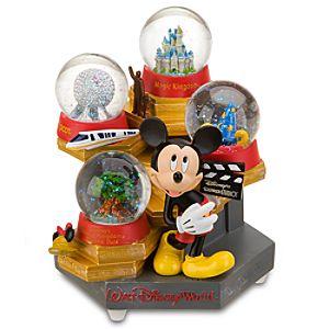 Four Parks Walt Disney World Resort Mickey Mouse Snow Globe