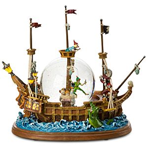 Jolly Roger Ship Peter Pan Snowglobe