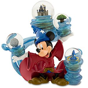 Four Parks, One World Sorcerer Mickey Mouse Snowglobe