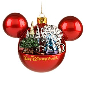 Four Parks, One World Walt Disney World Resort Mickey Mouse Ornament