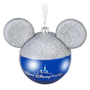 Silver Mickey Mouse Ears Walt Disney World Resort Ornament