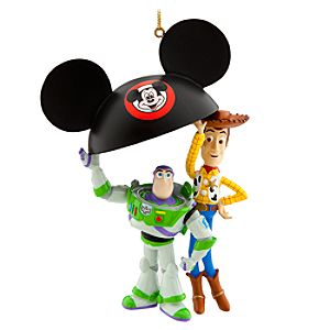 Buzz and Woody Ear Hat Ornament