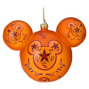 Paisley Mickey Mouse Ornament