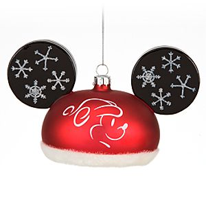 Santa Hat Mickey Mouse Ornament