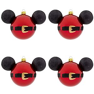 Best of Mickey Santa Mickey Mouse Holiday Ornaments -- 4-Pc.
