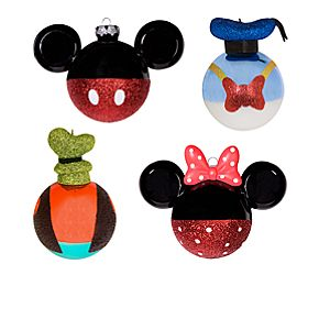 Best of Mickey Mickey Mouse and Friends Holiday Ornaments -- 4-Pc.