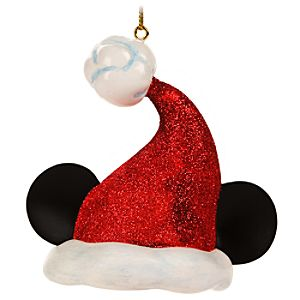 Santa Mickey Mouse Ear Hat Holiday Light Cover Ornament