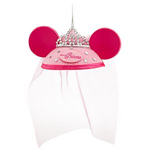 Tiara Ear Hat Disney Princess Ornament
