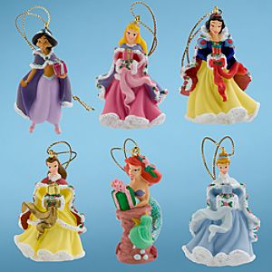 Mini Disney Princess Holiday Ornaments -- 6-Pc.