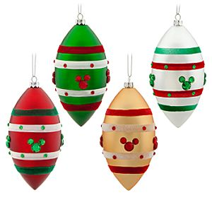 Shatterproof Mickey Mouse Ornament Set -- 4-Pc.