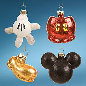Best of Mickey Mini Mickey Mouse Holiday Ornaments -- 4-Pc. Set
