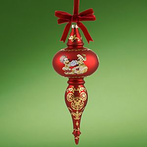 Victorian Mickey Mouse Finial Holiday Ornament
