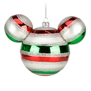 Striped Mickey Mouse Ornament