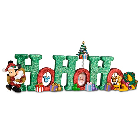 Ho Ho Ho Mickey Mouse Table Top Sign
