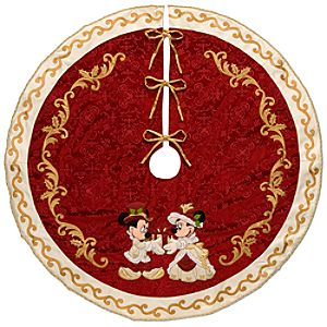 Minnie and Mickey Mouse Holiday Tree Skirt