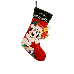 Personalized Santa Mickey Mouse Holiday Stocking