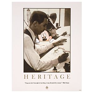 Heritage Walt Disney World Resort Poster -- Petite Print Size