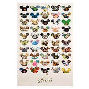 50 Ears Walt Disney World Resort Poster