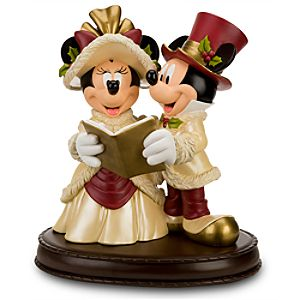 Victorian Christmas Minnie and Mickey Mouse Big Figurine