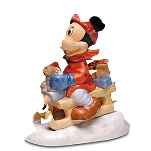 Sleigh Ride Minnie Mouse Figurine by Goebel