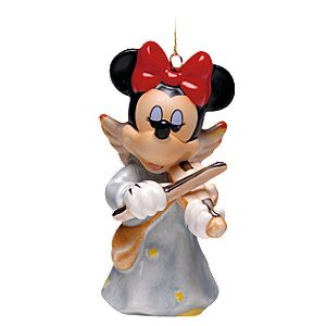 Celestial Strings Angel Minnie Mouse Ornament by Goebel