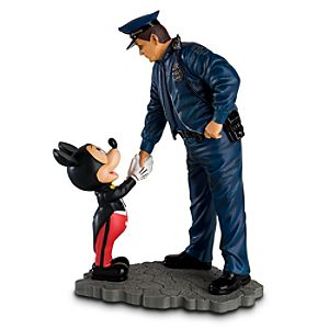 Policeman and Mickey Mouse Figurine