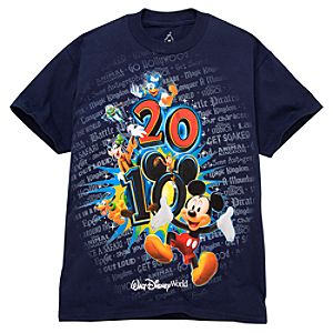 2010 Walt Disney World Resort Tour Tee for Kids -- Navy