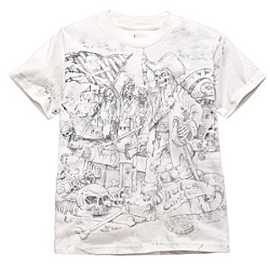 Sketch Art Pirates of the Caribbean Tee