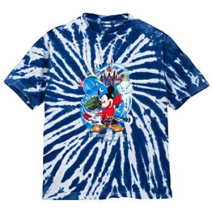 Tie Dye Four Parks One World Mickey Mouse Tee