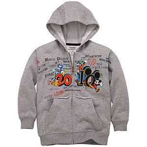 2010 Walt Disney World Resort Hoodie Sweatshirt Jacket for Kids -- Gray