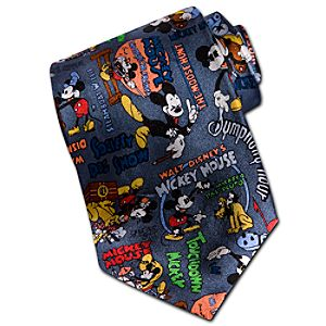 Comic Silk Mickey Mouse Tie