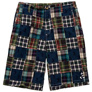 Patchwork Mickey Mouse Shorts for Men