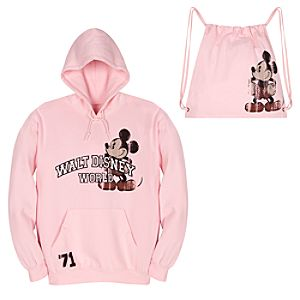 Sweatshirt Fleece Pouch Pocket Mickey Mouse Backpack