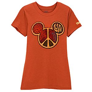 Peace Icon Mickey Mouse Tee for Women