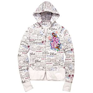 2010 Walt Disney World Resort Hoodie Sweatshirt Jacket for Women -- White