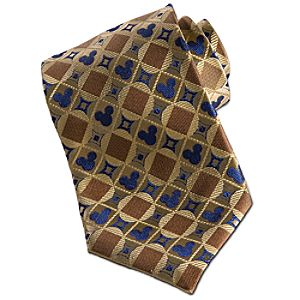 Gold Silk Mickey Mouse Tie