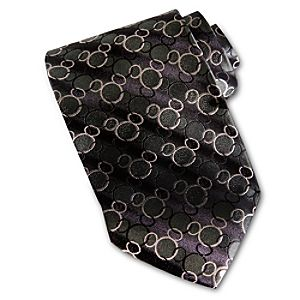 Green Links Silk Mickey Mouse Tie
