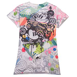 Pop Art Minnie and Mickey Mouse Tee for Women