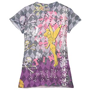 Rhinestone Argyle Tinker Bell Tee for Women