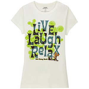 Live Laugh Relax Mickey Mouse Tee for Women