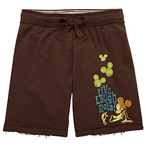 Live Laugh Relax Mickey Mouse Shorts for Women