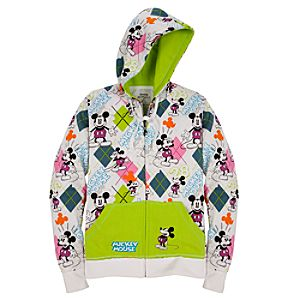 Argyle Hoodie Mickey Mouse Jacket