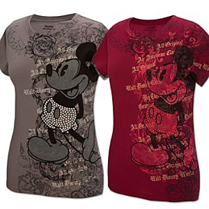 Studded Filigree Mickey Mouse Tee