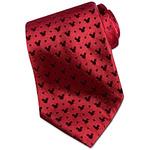 Red Silk Mickey Mouse Tie
